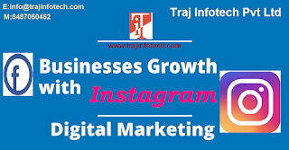 Instagram is a great platform to enhance your Business Profile -Traj infotech