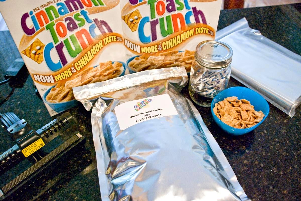 Mylar Bag Cereal Or Anything Else For Long Term Food Storage