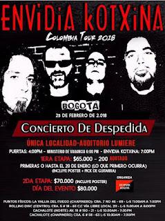 Concierto de Envidia Kotxina en Colombia