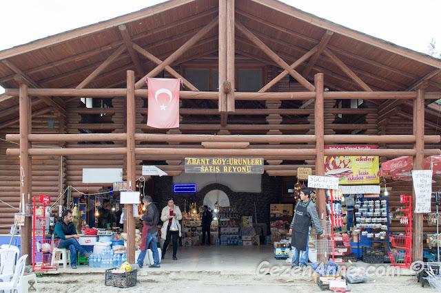 Abant köy ürünleri satış reyonu
