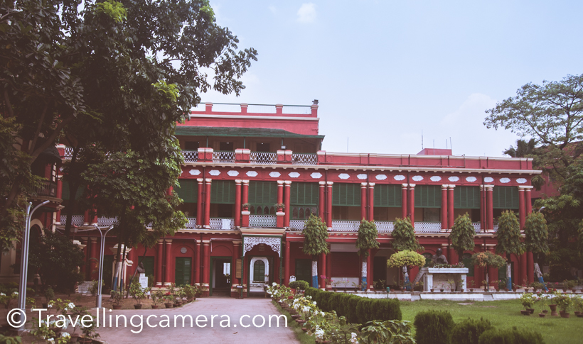 On last day of our Kolkata, we planned to visit Jorasanko Thakur bari, the place where Rabindra Nath Tagore  lived and now a brilliant museum having collection of his art-work, literature, photographs, paintings of cultural exchanges. I was not sure if it's worth visiting the place but it has lot more to offer apart from the beautiful haveli and the museum. Jorasanko Thakur Bari is the house in which the poet and first non-European Nobel laureate, Rabindranath Tagore was born. It is also the place where he spent most of his childhood and did some important meetings. We took Metro from Elgin to Girish Park and walked to Jorasanko Thakur bari. Metro is most convenient way to reach this place if you are around Metro station. Otherwise, this area is prone to traffic jams, which we experienced when we planned to take taxi to return back. As we get down at Girish Park, cross the road and walk towards the main gate which takes you to Jorasanko Thakur bari. Anyone around this area would guide you easily, but you need to clearly remember the whole name of the place - 'Jorasanko Thakur bari'. If you only say Thakurbari, you may lead to wrong place. Tourists enjoying their reads while listening to Rabindra music. You would really enjoy the place if you have time, 2-3 hours. This place has lot to explore and know about Rabindra Nath Tagore, his work, family and influence in different countries and culture. But even if you have just 1 hr, that enough to get inspired and appreciate the kind of work he has done many decades ago. Jorasanko Thakur bari is located at a peacful place, although you have to cross through some of the busiest lanes of Kolkata. But you enter the campus of Jorasanko Thakur bari, you feel the peace and there is a sudden change. Green landscapes around vibrant haveli makes it more special. There is an entry ticket for the museum and it costs 10 rs per person, which is very reasonable. The way this place is maintained is awesome. Every hall and exhibition gall