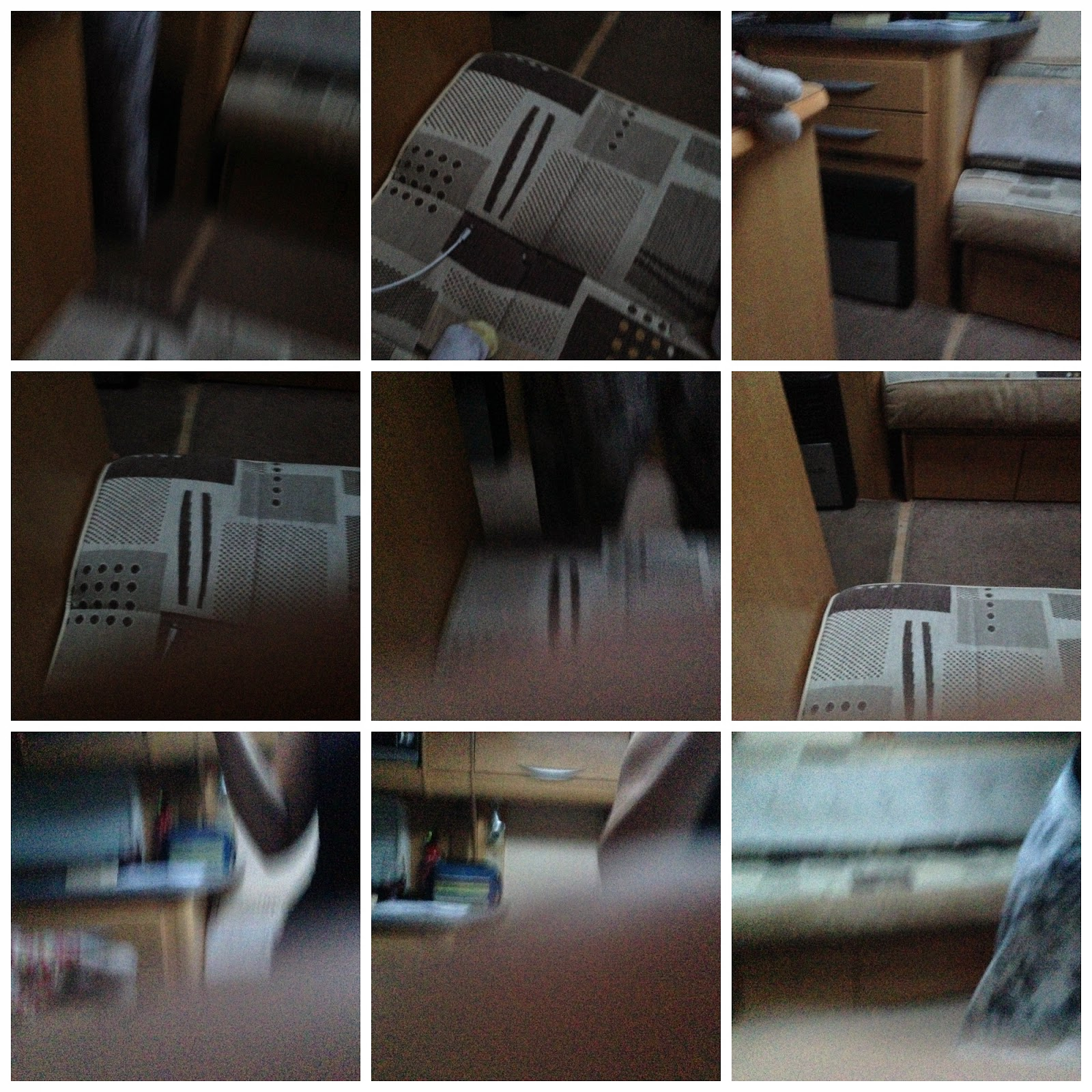 Collage of blurry pictures