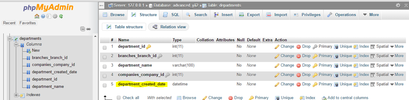 Automatic Assign Current Date and Time after Create [ Yii2 Framework]