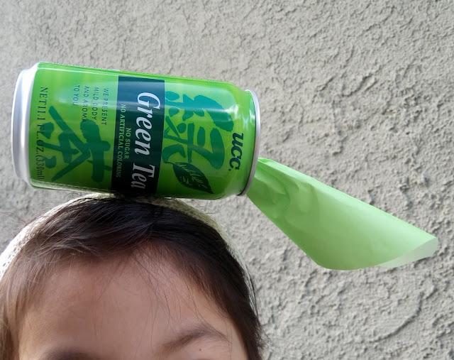 easy diy ramen noodle costume and green tea hat headband for halloween