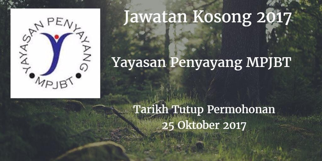 Jawatan Kosong Yayasan Penyayang MPJBT 25 Oktober 2017
