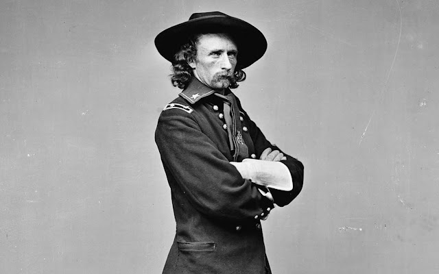 General George Armstrong Custer, a United States Army officer and cavalry commander in the American Civil War and the Indian Wars. Custer built a strong reputation during the Civil War, and afterwards he was sent west to fight in the Indian Wars. Custer was later defeated and killed at the famous Battle of the Little Bighorn in in eastern Montana Territory, in 1876.