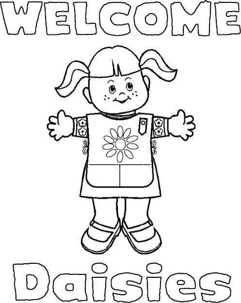 Coloring Pages For Daisy Scouts  Girl Scout Coloring Page Super Coloring  Wele Signs For Daisies