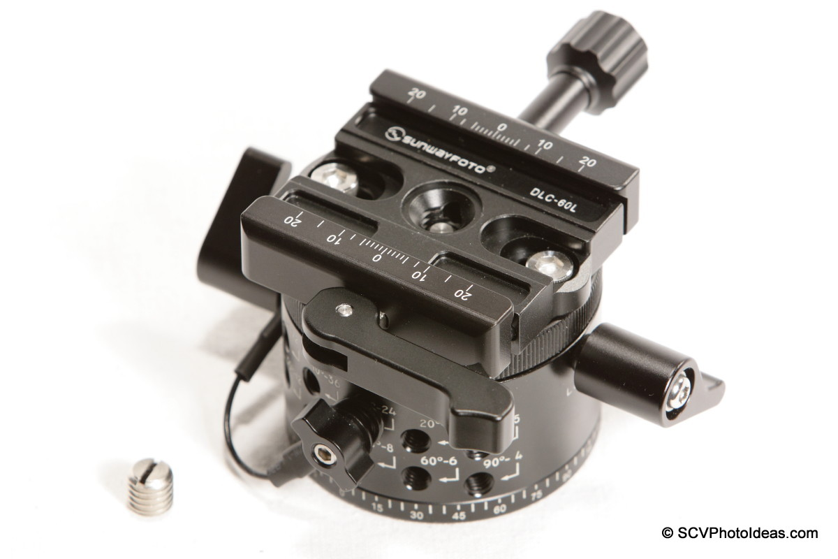 Sunwayfoto DLC-60L Duo QR Clamp on DDP-64MX Indexing rotator