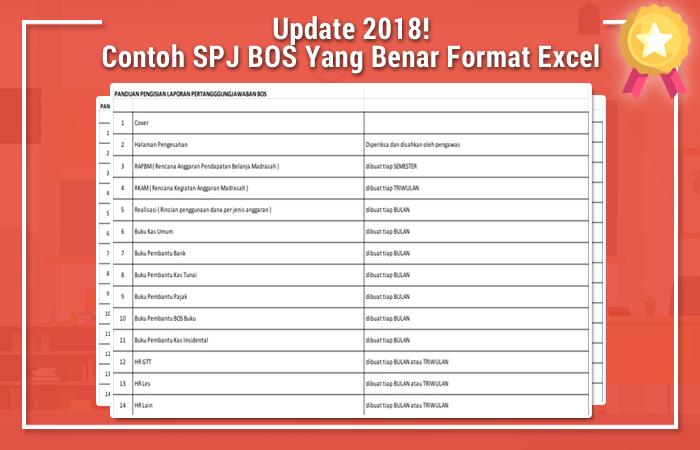 Contoh SPJ BOS Yang Benar Format Excel