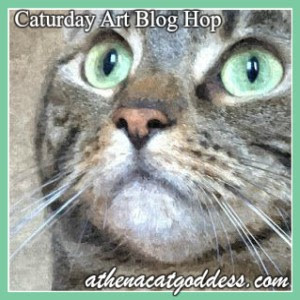 Caturday Art Blog Hop with Athena
