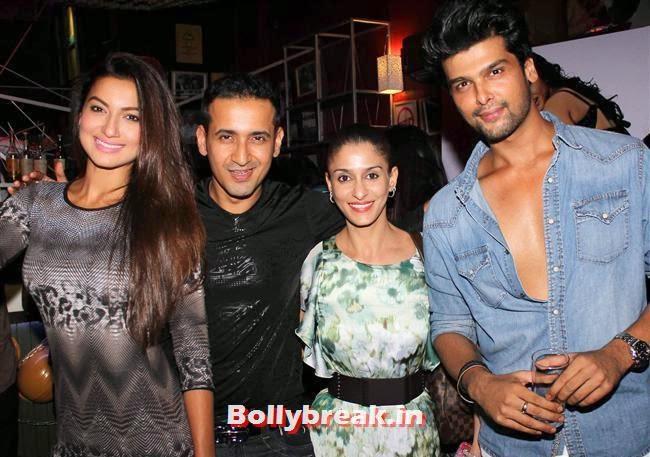 Gauhar Khan, Manmeet, Shilpa and Kushal Tandon, Sunny Leone, Gauhar & Sana Khan at Baby Doll Success Party