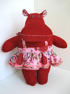 Plush hippo, hippo plushie, stuffed hippo