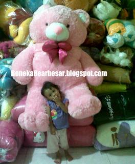 gambar boneka teddy bear besar pink