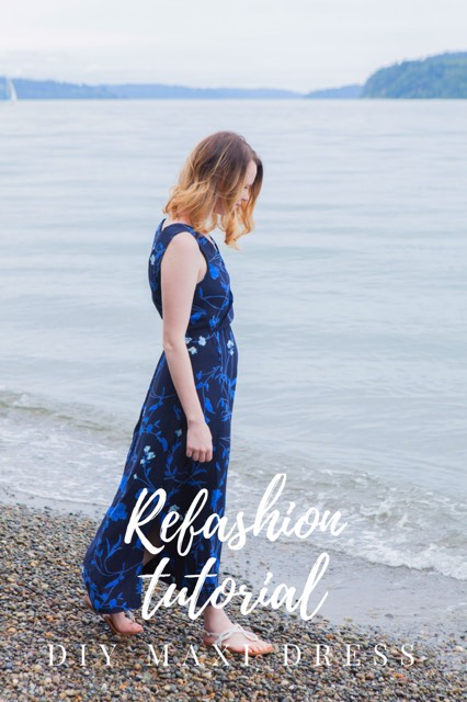 MAXI DRESS REFASHION UPCYCLE