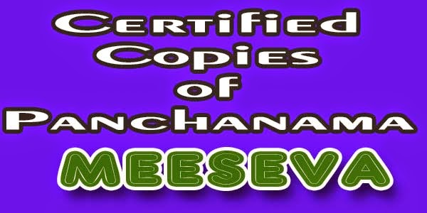 Certified Copies of Panchanama apply meeseva