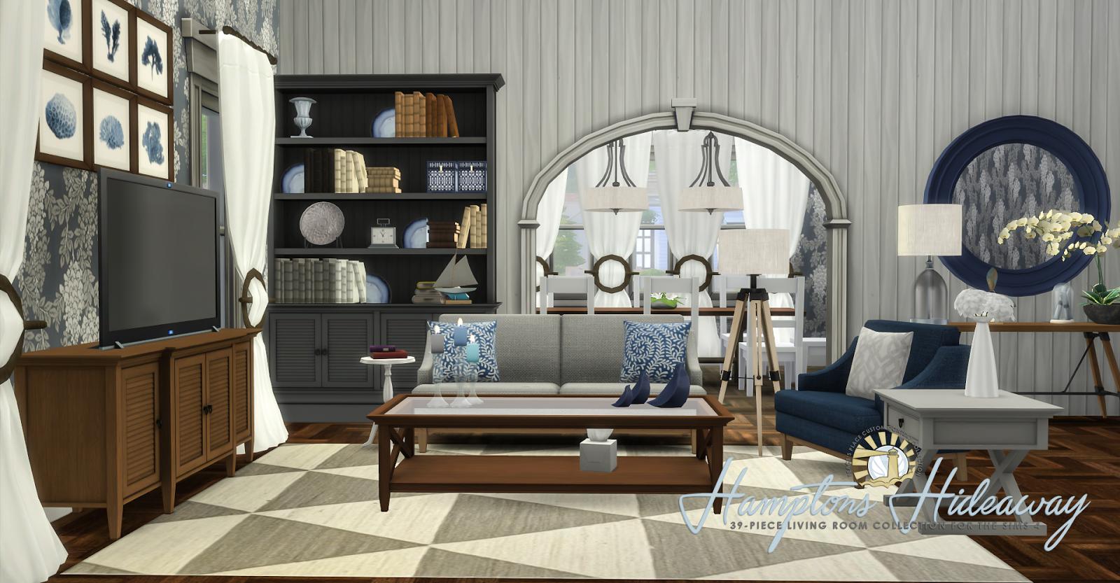 Simsational Designs Hamptons Hideaway  Living Room Set