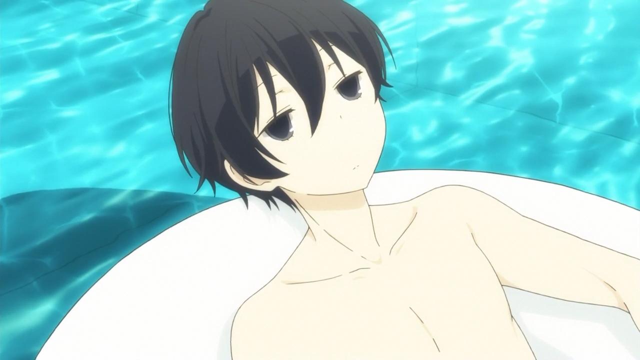 【田中くんはいつもけだるげ】浮き輪でぷかぷかする田中くん
