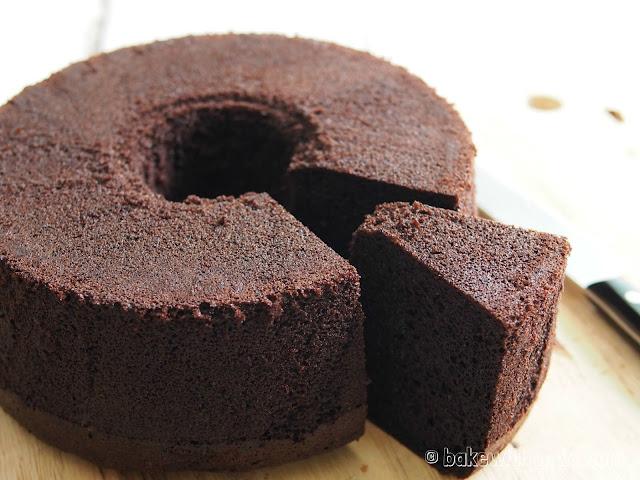 Japanese Dark Pearl Chocolate Chiffon Cake