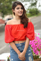 Rhea Chakraborty in Red Crop Top and Denim Shorts Spicy Pics ~  Exclusive 102.JPG