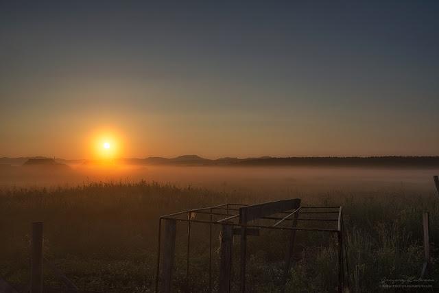 Пейзаж Сахалина. Рассвет. Поселок Муравьево. Утро перед поездкой на маяк Анива.