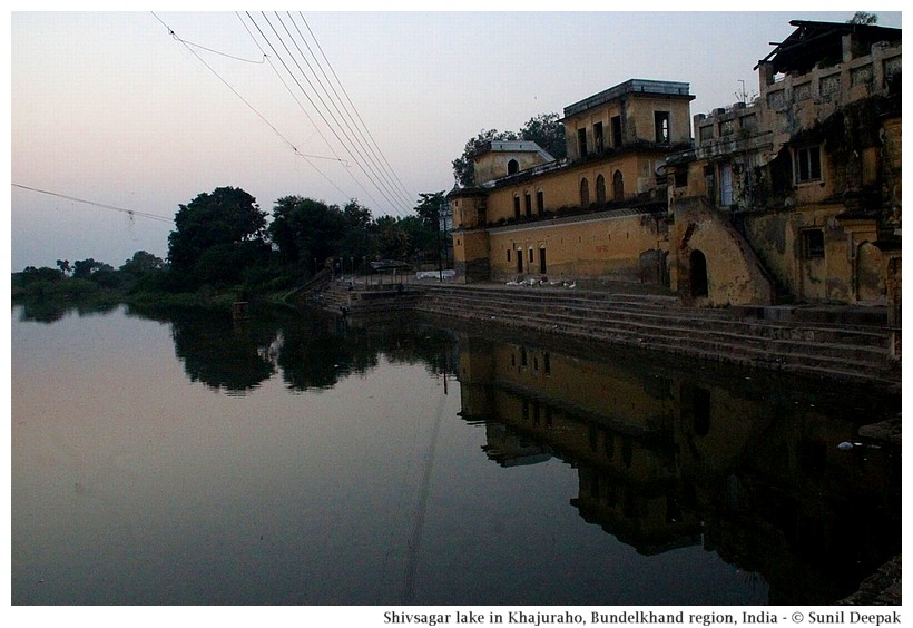 Shiv Sagar lake built by Chandela dynasty, Khajuraho, Bundelkhand region, central India - Images by Sunil Deepak
