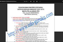 Info Guru Download Resume Kumpulan Materi Esensial UKG IPS 2015