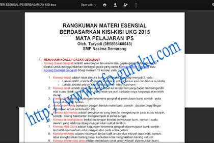Info Guru Download Resume Kumpulan Materi Esensial UKG IPS 2015
