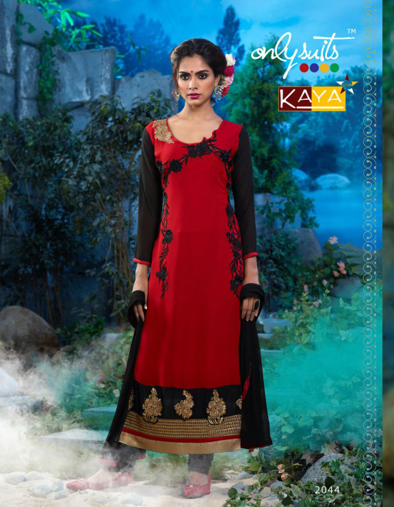 Kaya Star-  Designer  Fashion  Georgette With Embroidery Salawar Suit