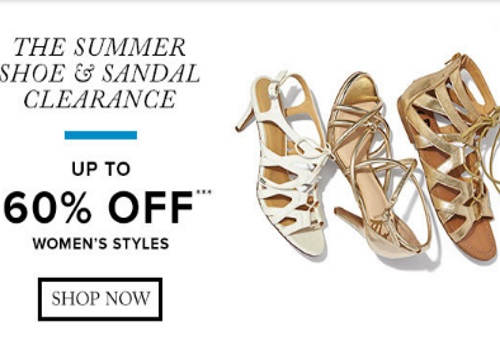 Hudson's Bay Summer Shoe & Sandal Clearance Up To 60% Off + 20% Off Promo Code