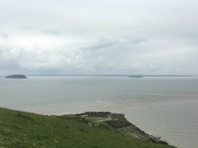 Mini-Breaks-and-Den-Building-view-of-steep-holm-and-flat-holm-from-the-top-of-Brean-down