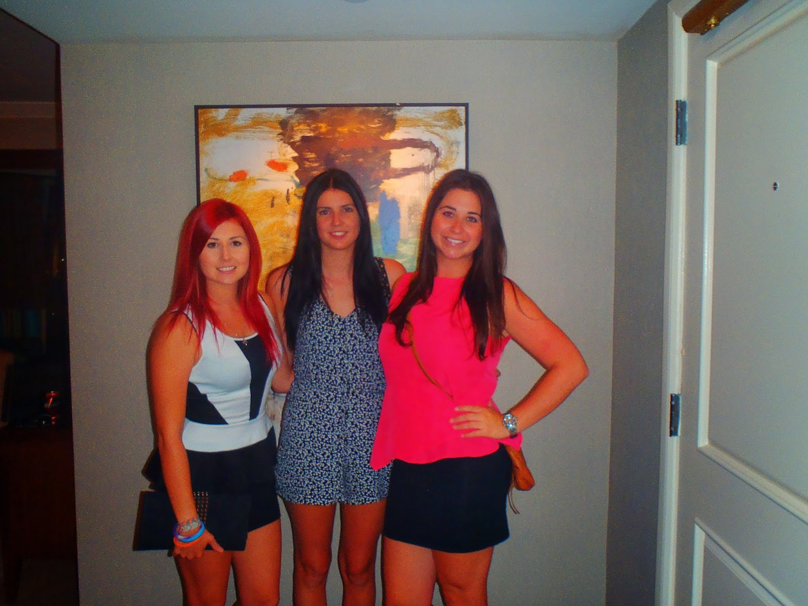 picture of us girls in the hotel