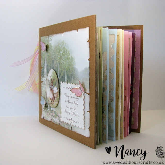 Happy Easter Mini Album with Gummiapan and Pion Design | By Nancy