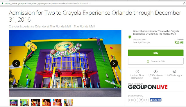 Crayola Experience at The Florida Mall, Groupon
