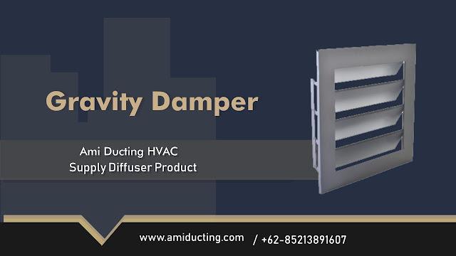 Gravity Damper Aksesoris Ducting