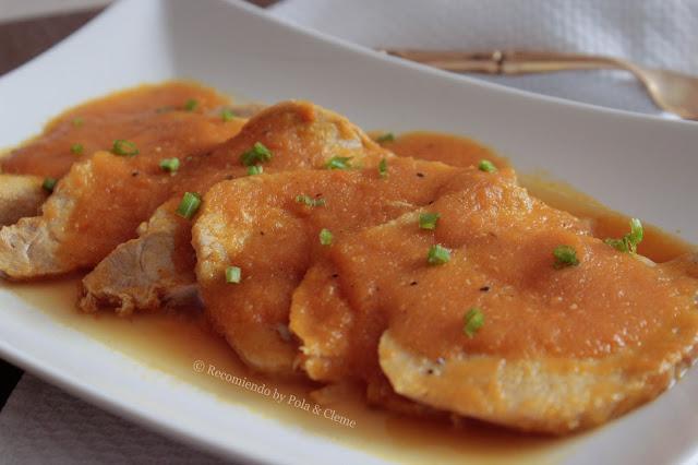 Receta de Carne de Cerdo en salsa de zanahoria