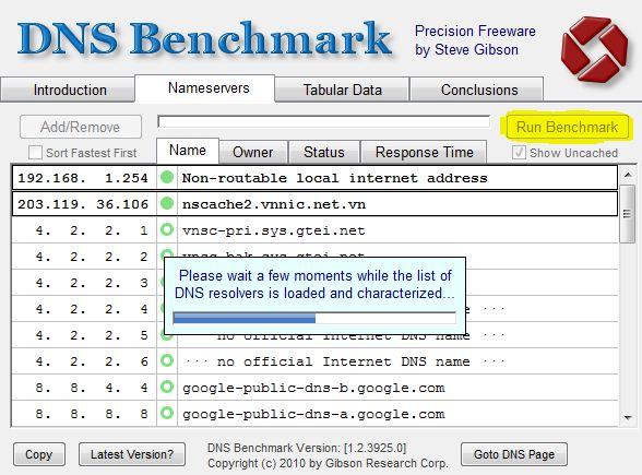 Chọn DNS, giúp bạn duyệt web nhanh hơn với DNS Benchmark    Kiến Thức Mở