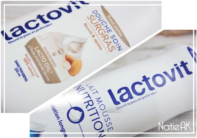 Lait mousse nutrition et gel douche  Surgras de Lactovit