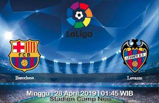Prediksi Barcelona vs Levante 28 April 2019