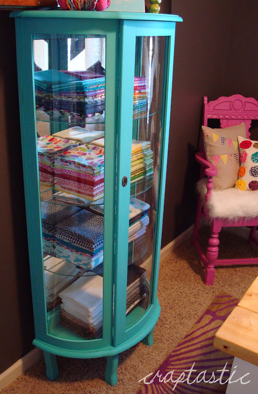 & CRAPTASTIC: DIY Chalk Paint - Aqua Curio Cabinet!