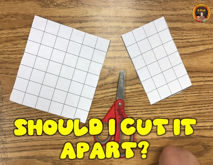 Is cutting apart helpful to find the area of irregular shapes?