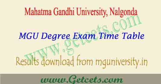 MGU degree time table 2021, MG university Results download