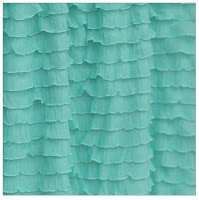 Mint Ruffle Shower Curtain