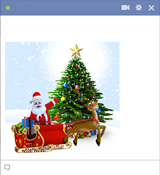 Santa and Christmas Tree Emoticon