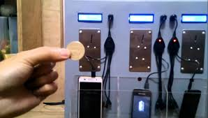 Mobile Charging On Coin Insertion