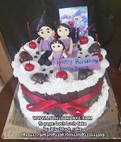 Kue Tart Blackforest Cake tema keluarga