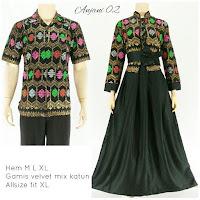 Batik Sarimbit Gamis Anjani2 hitam