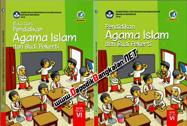 Buku Guru dan Buku Siswa Agama Islam Kelas 6  K13 Revisi 2018