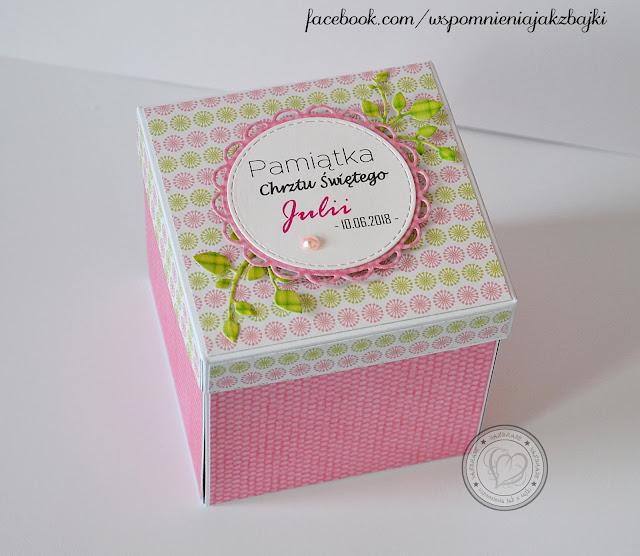 Karuzelka w pudełeczku na Chrzest Święty Julii