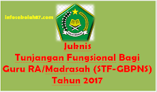 Juknis Tunjangan Fungsional Bagi Guru RA/Madrasah (STF-GBPNS) Tahun 2017