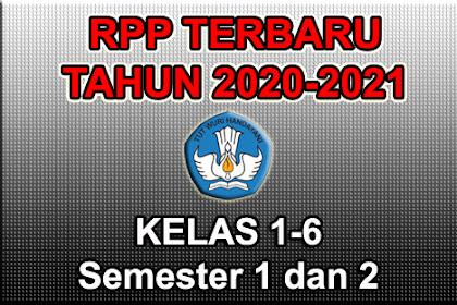 Download RPP Satu Lembar Kelas 1 2 3 4 5 6 Semester Ganjil & Genap Terbaru 2020-2021
